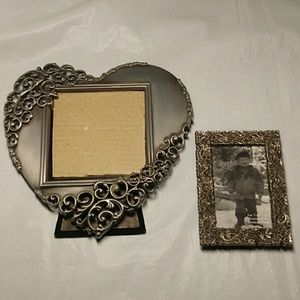 Other - Two Pewter Picture Frames Ornate